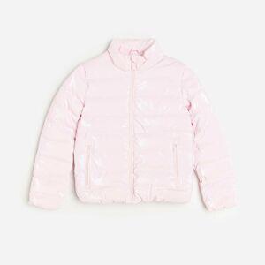 Reserved - Prošívaná metalická bunda - Růžová