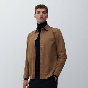 Reserved - Bavlněná košile regular fit - Béžová