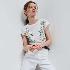Reserved - Tričko ze směsi bavlny amodalu - Vícebarevná