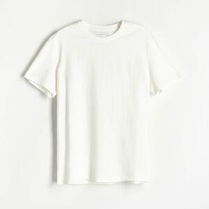 Reserved - Tričko snápisem na zádech - Krémová