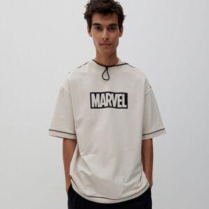 Reserved - Tričko s potiskem Marvel - Béžová