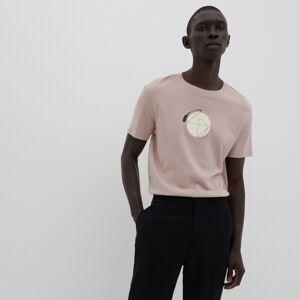 Reserved - Bavlněné tričko s potiskem - Růžová