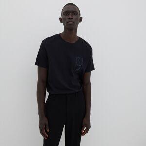 Reserved - Bavlněné tričko s potiskem - Černý