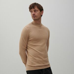Reserved - Hladký svetr spolorolákem - Béžová