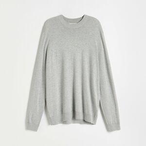 Reserved - Lehký viskózový svetr - Světle šedá