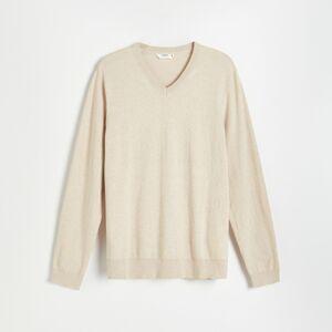 Reserved - Svetr z organické bavlny - Béžová