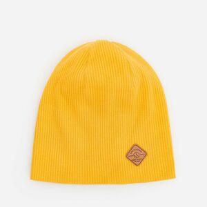 Reserved - Čepice zžebrované pleteniny svysokým podílem bavlny - Žlutá