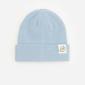 Reserved - Čepice zžebrované pleteniny svysokým podílem bavlny - Modrá