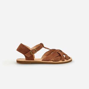 Reserved - Girls` sandals - Hnědá