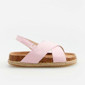 Reserved - Sandály spletenou platformou - Růžová