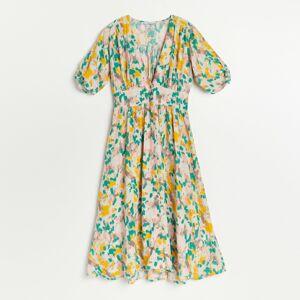 Reserved - Vzorované šaty z viskózy - Vícebarevná