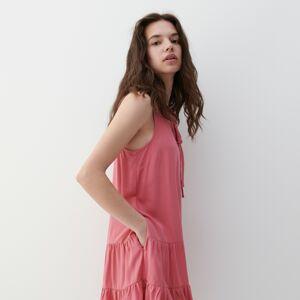 Reserved - Šaty svysokým podílem viskózy - Růžová