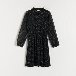 Reserved - Puntíkaté šaty - Černý