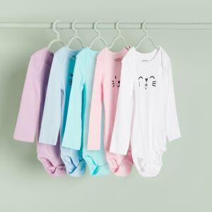 Reserved - Babies` body suit multi - Růžová