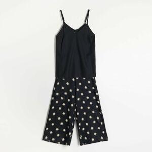 Reserved - Dvoudílná pyžamová souprava - Černý