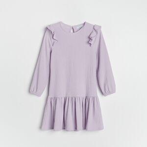 Reserved - Šaty s volánem - Fialová