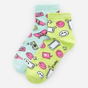 Reserved - Girls` socks multi - Zelená