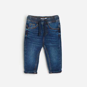 Reserved - Kalhoty joggers svysokým podílem organické bavlny - Tmavomodrá