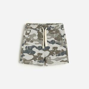 Reserved - Teplákové maskáčové šortky - Světle šedá