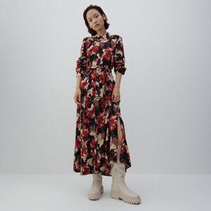 Reserved - Vzorované maxi šaty - Černý