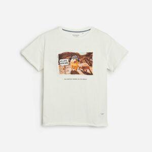 Reserved - Bavlněné tričko s potiskem - Krémová
