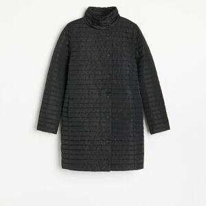 Reserved - Lehký prošívaný kabát - Černý