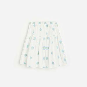 Reserved - Květovaná sukně - Bílá