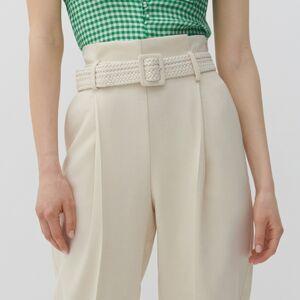 Reserved - Ladies` trousers & belt - Krémová