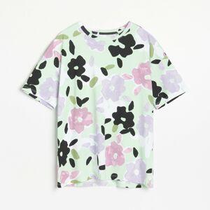 Reserved - Bavlněné tričko OVERSIZED - Vícebarevná