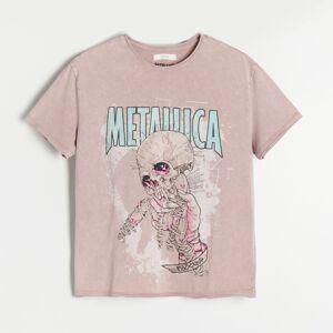 Reserved - Batikované tričko Metallica - Růžová