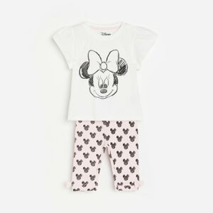 Reserved - Babies` t-shirt & trousers - Růžová