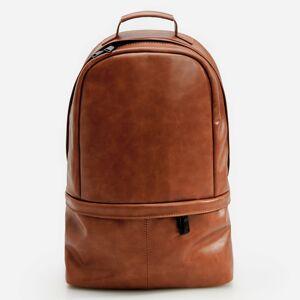 Reserved - Elegantní koženkový batoh - Hnědá