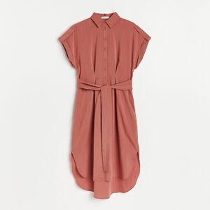 Reserved - Košilové midi šaty - Červená