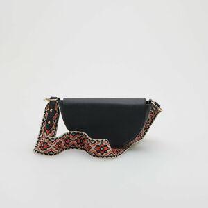 Reserved - Kabelka s ozdobným páskem - Černý