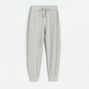 Reserved - Ladies` trousers - Světle šedá