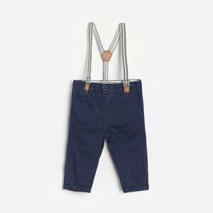 Reserved - Babies` trousers & suspenders - Tmavomodrá