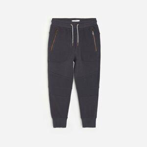 Reserved - Bavlněné kalhoty joggers skapsami - Šedá