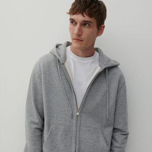 Reserved - Mikina na zip s kapucí - Světle šedá