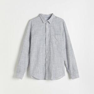 Reserved - Kostkovaná košile - Tmavomodrá