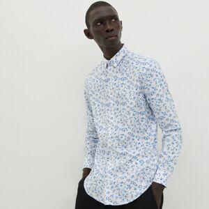 Reserved - Košile s jemným vzorem - Modrá