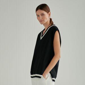 Reserved - Úpletová vesta - Černý