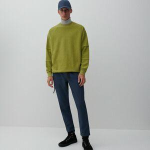 Reserved - Kalhoty slim fit spáskem - Modrá