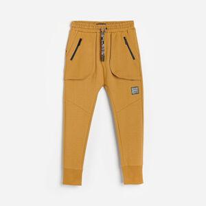 Reserved - Bavlněné teplákové kalhoty - Hnědá