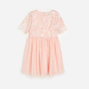 Reserved - Krajkové šaty - Růžová