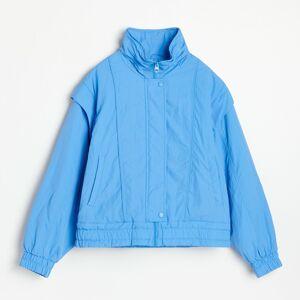 Reserved - Bunda sodepínatelnými rukávy - Modrá
