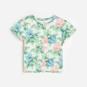Reserved - Bavlněné tričko s barevným potiskem - Krémová
