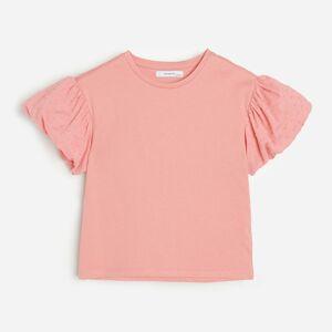 Reserved - Tričko se zdobenými rukávy - Růžová