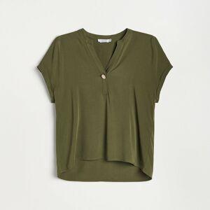 Reserved - Ladies` blouse - Khaki