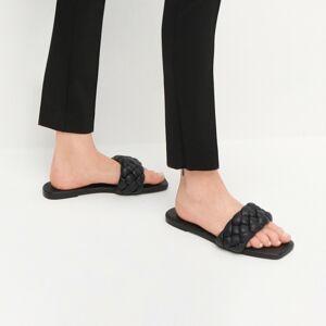 Reserved - Nazouváky na vysokém podpatku se splétaným nártem - Černý