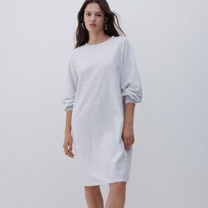 Reserved - Šaty zteplákového žerzeje - Světle šedá